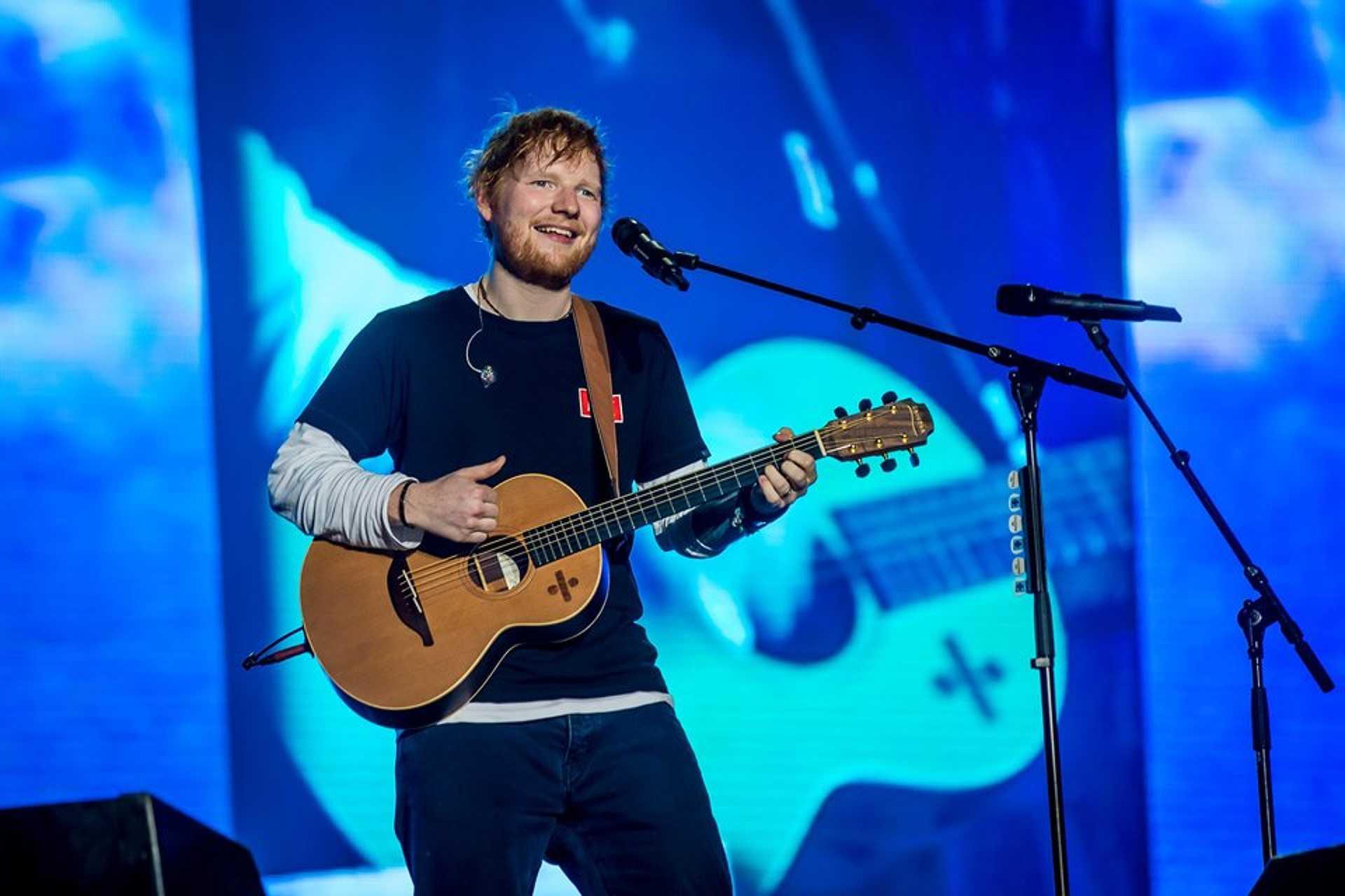 Ed Sheeran a Szigeten.
