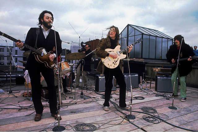 A Beatles utolsó koncertje egy londoni háztetőn, 1969.